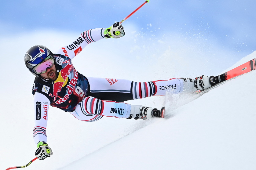 Maxence Muzaton protagonizó la imagen del Mundial de esquí 2021.