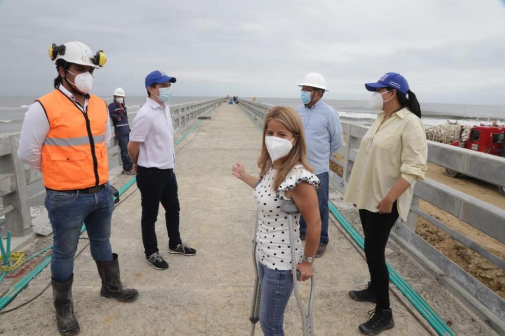 Obras muelle Puerto Colombia