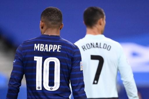Kylian Mbappé y Cristiano Ronaldo Francia vs Portugal