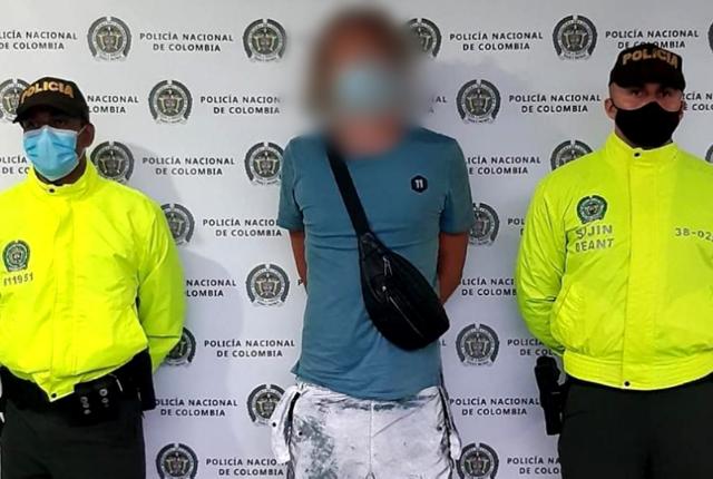 ciudadano ruso capturado por tráfico de estupefacientes.
