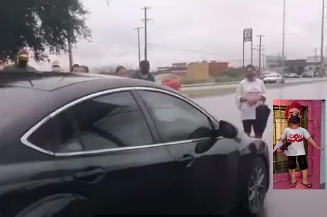 mujer atropellada en tranmision en vivo y piñata