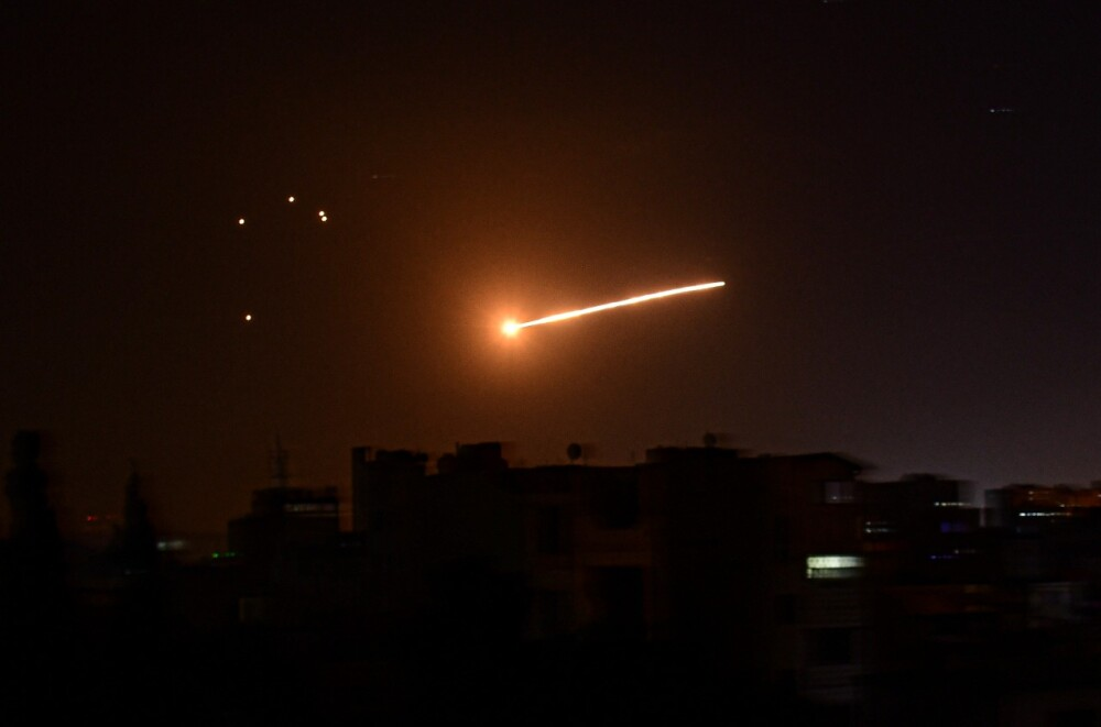 Israel bombardeo misil AFP.