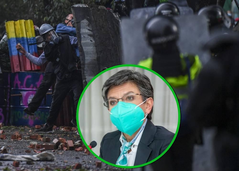 Claudia López - protestas del paro nacional