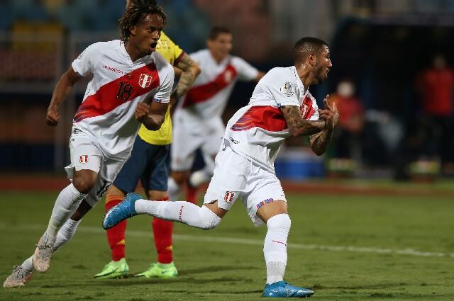 Gol de Perú contra Colombia