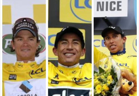 Carlos Betancur, Sergio Henao y Egan Bernal son los colombianos que han sido campeones de la París-Niza.