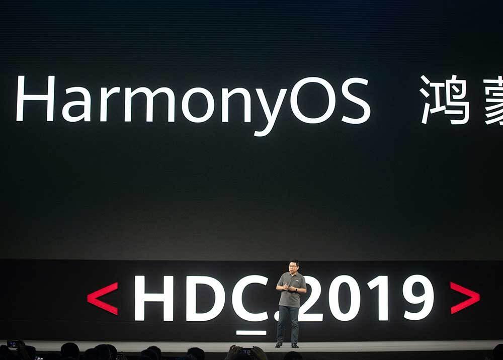 340638_BLU Radio // Richard Yu, CEO de Huawei, durante la presentación de HarmonyOS // Foto: AFP