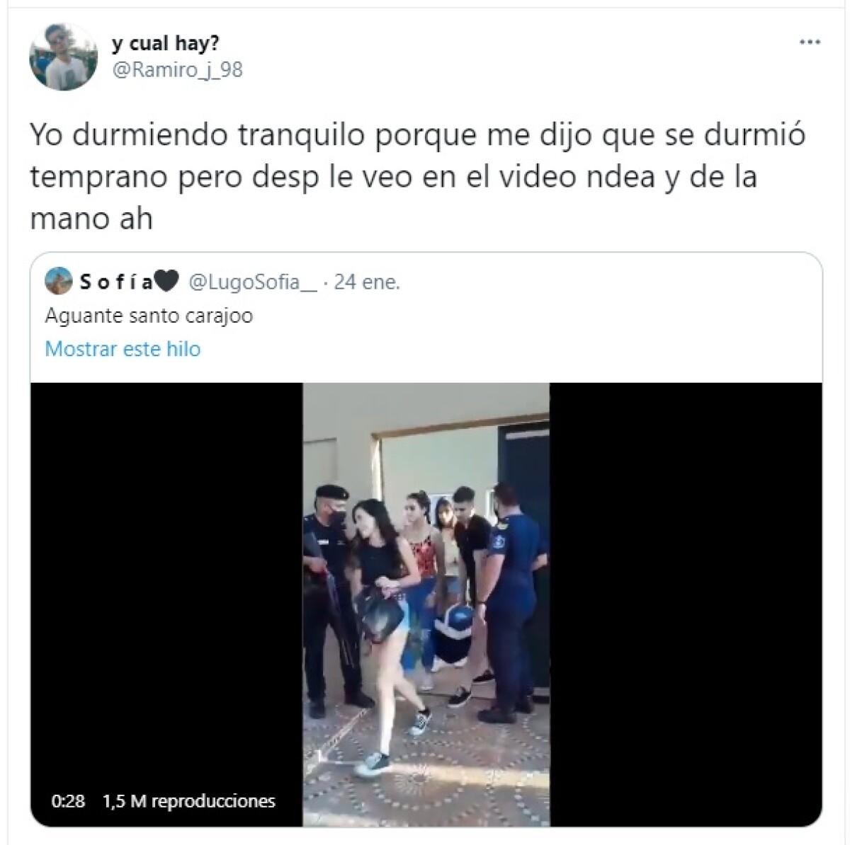 Tuit de Ramiro sobre la infidelidad