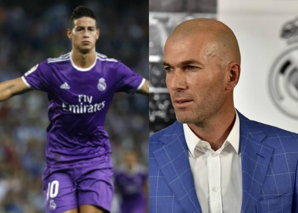 273777_BLU Radio. James y Zidane - Fotos: AFP