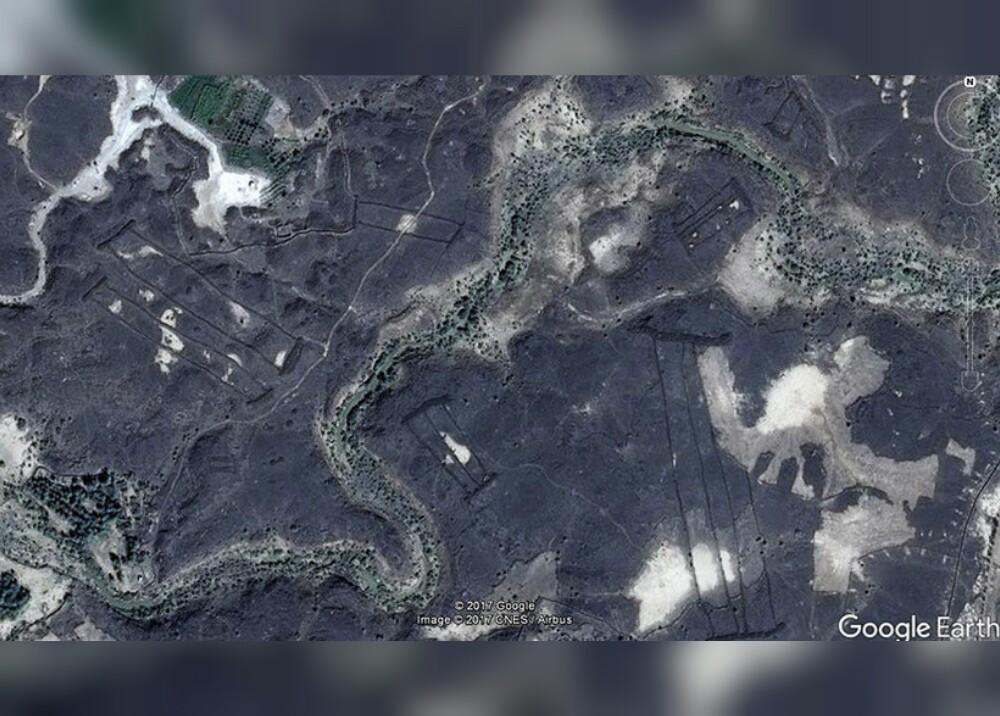 294498_Blu Radio / Hallan misteriosas estructuras de piedra en Arabia Saudita a través de Google Earth / Foto: Google Earth