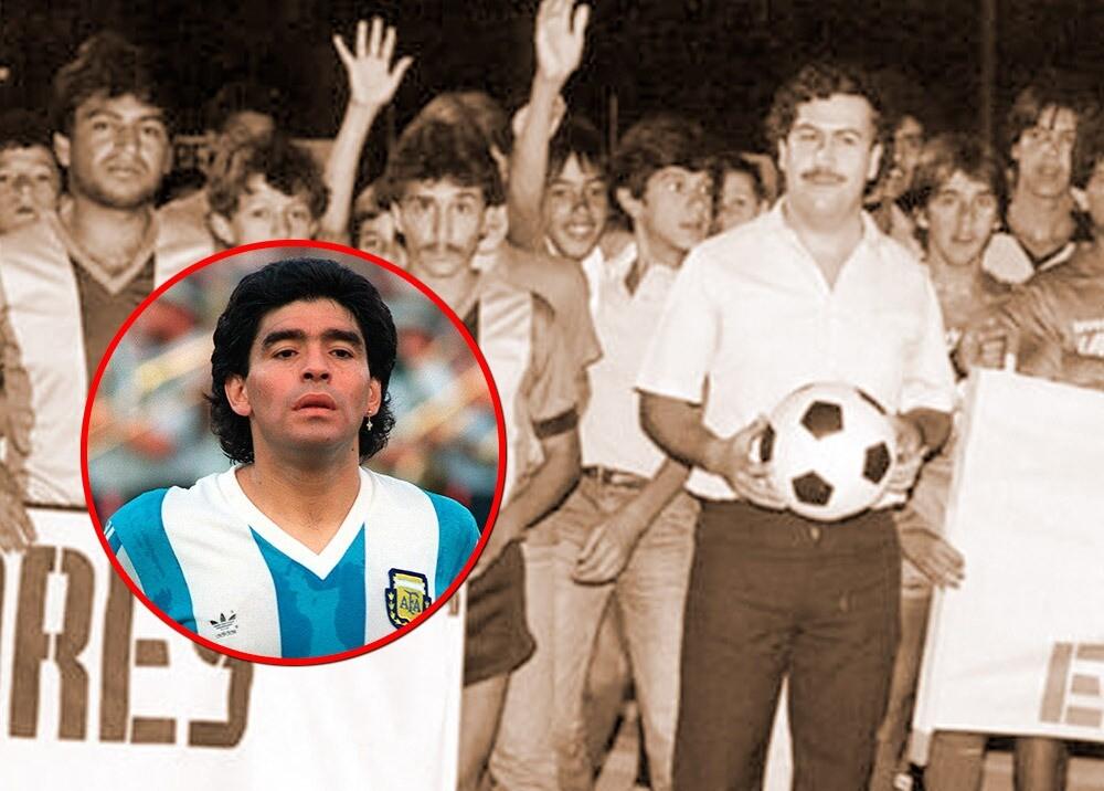 Pablo Escobar y Maradona / Fotos: AFP - suministrada