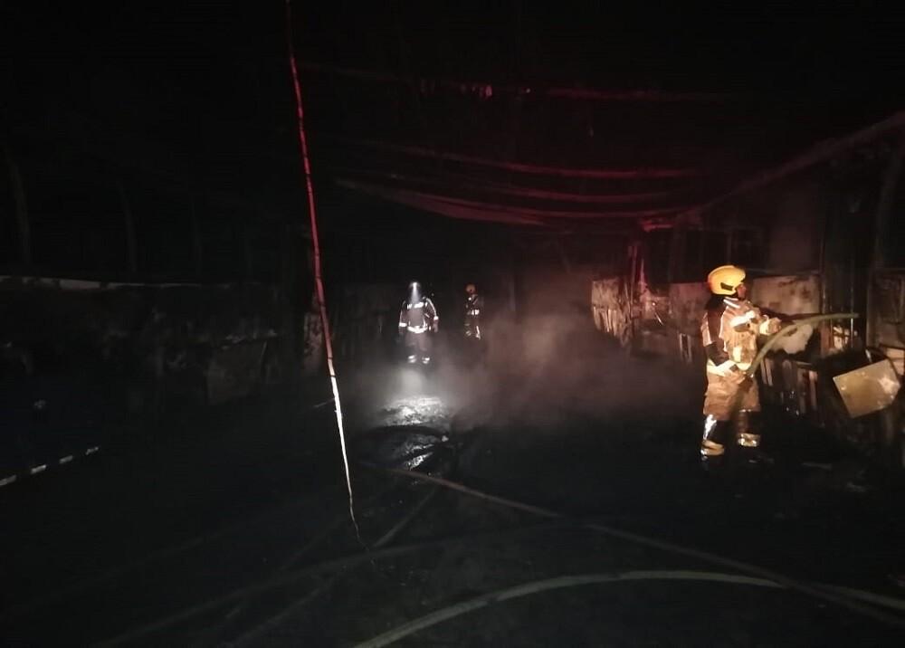 368567_BLU Radio. Incendio en parqueadero de hotel / Foto: Bomberos de Floridablanca