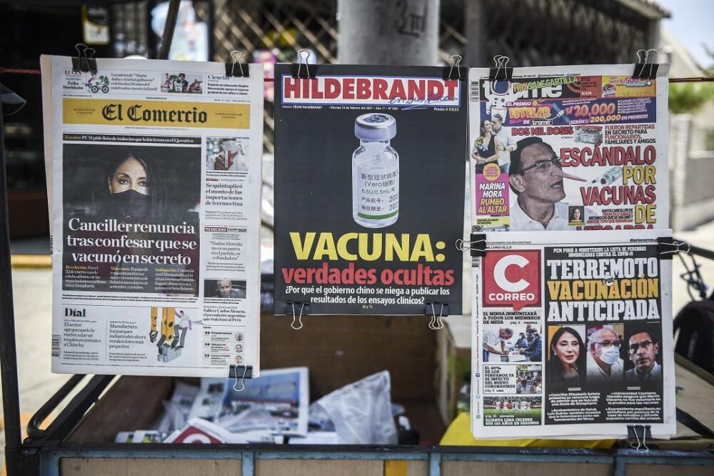 Escándalo vacunas en Perú. Foto: AFP