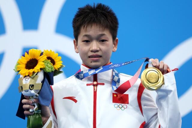 Quan Hongchan, en los Juegos Olímpicos de Tokio