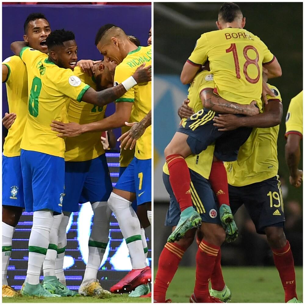 Brasil y Colombia