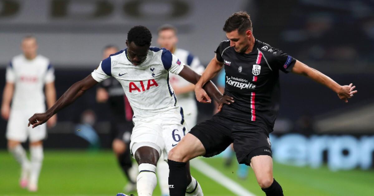 Dávinson Sánchez, presente en la victoria 3-0 de Tottenham sobre el Lask, en Europa League