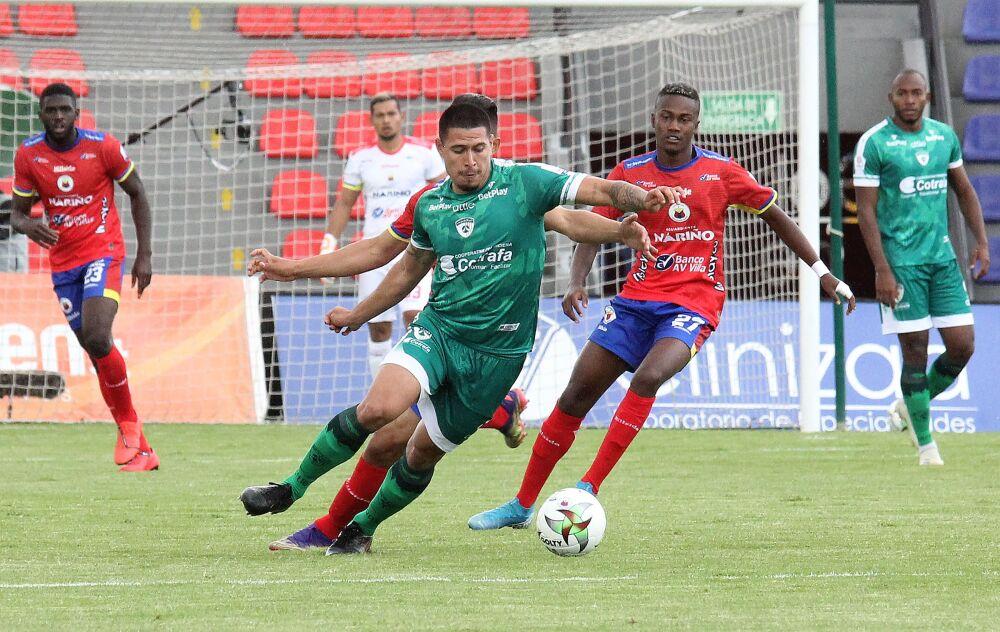 Partido entre Deportivo Pasto y La Equidad, partido válido por la fecha 1 de la liga colombiana I-2021. Dimayor.jpeg