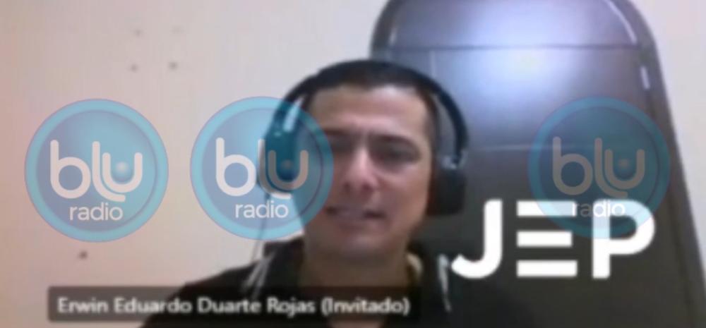Excapitán Erwin Eduardo Duarte Rojas, ante la JEP.
