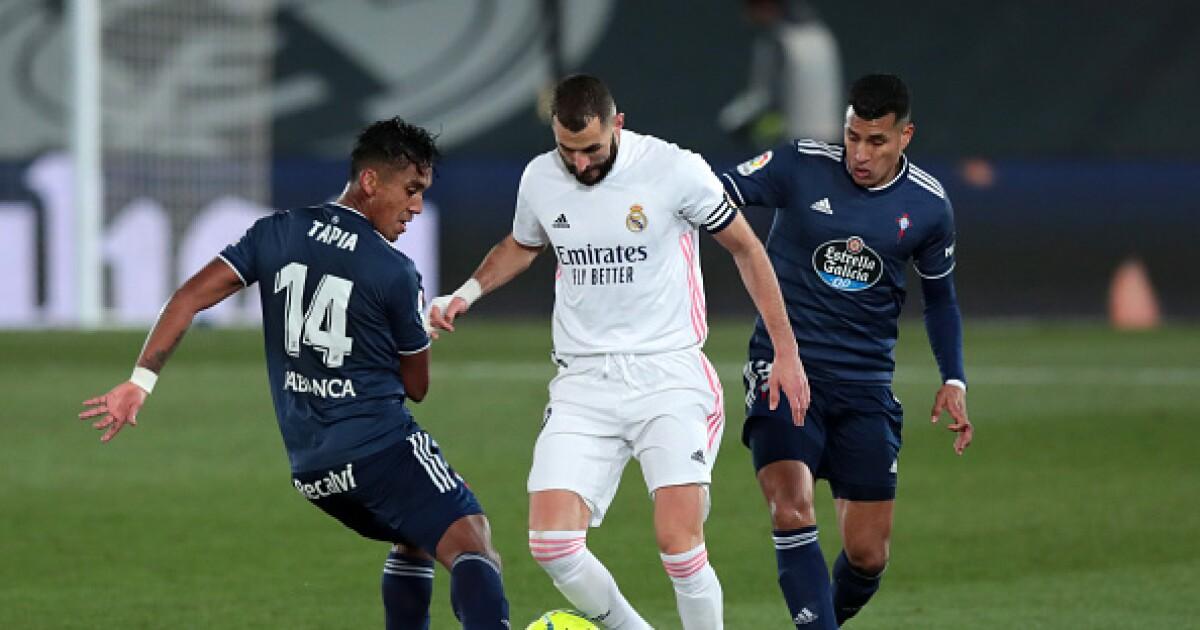 Jeison Murillo sufrió el poderío del Real Madrid en la derrota 2-0 del Celta de Vigo