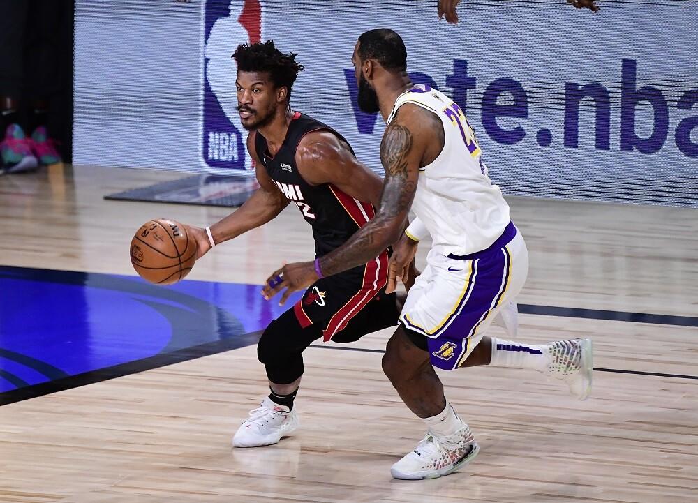 Miami Heat vs. Los Angeles Lakers. Foto: AFP