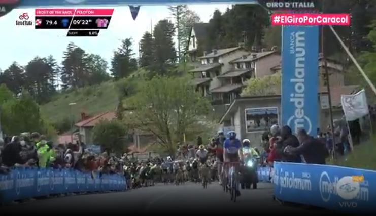 Segundo premio de montaña de la etapa 12 del Giro de Italia.
