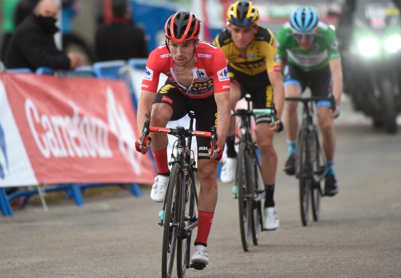 Primoz Roglic en la etapa 12 de la Vuelta a España 2020.