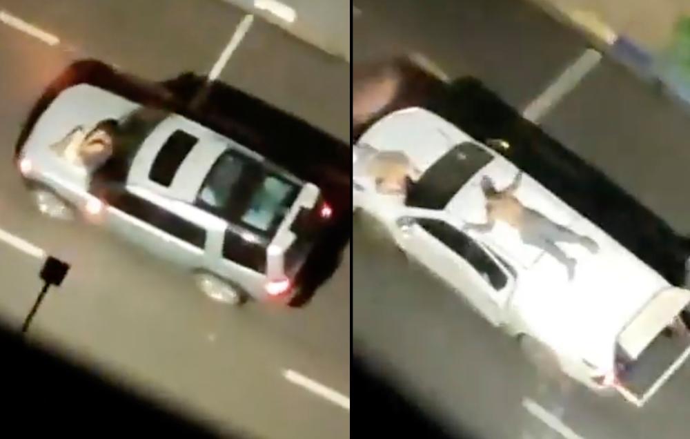 Ladrones de bancos ataron a rehenes a sus vehículos como escudos humanos