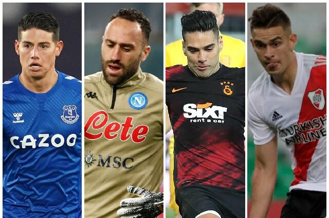 James, Ospina, Falcao y Santos Borré