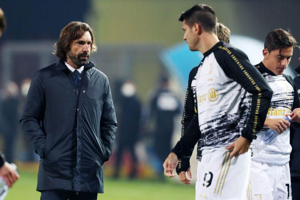 Andrea Pirlo y Álvaro Morata