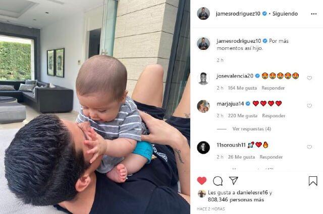 335280_James Rodríguez y su hijo.