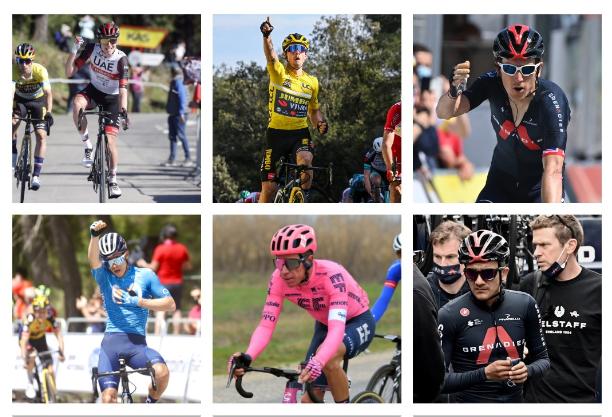 Tadej Pogacar, Primoz Roglic, Geraint Thomas, Miguel Ángel López, Rigoberto Urán y Richard Carapaz son algunos de los favoritos al título del Tour de Francia 2021.