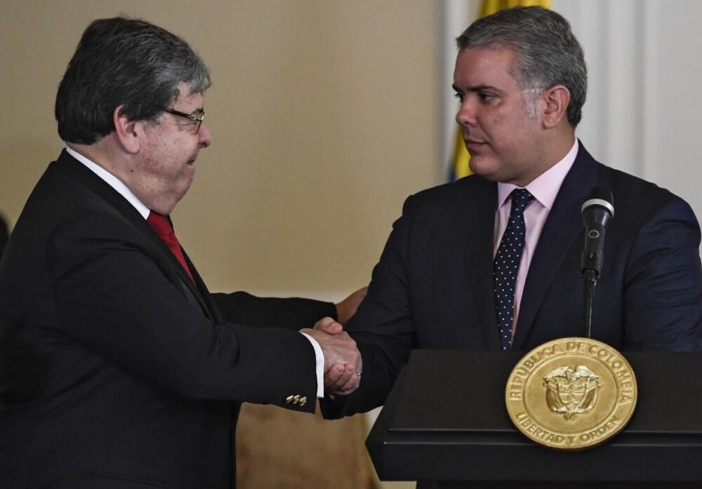 Carlos Holmes Trujillo e Iván Duque
