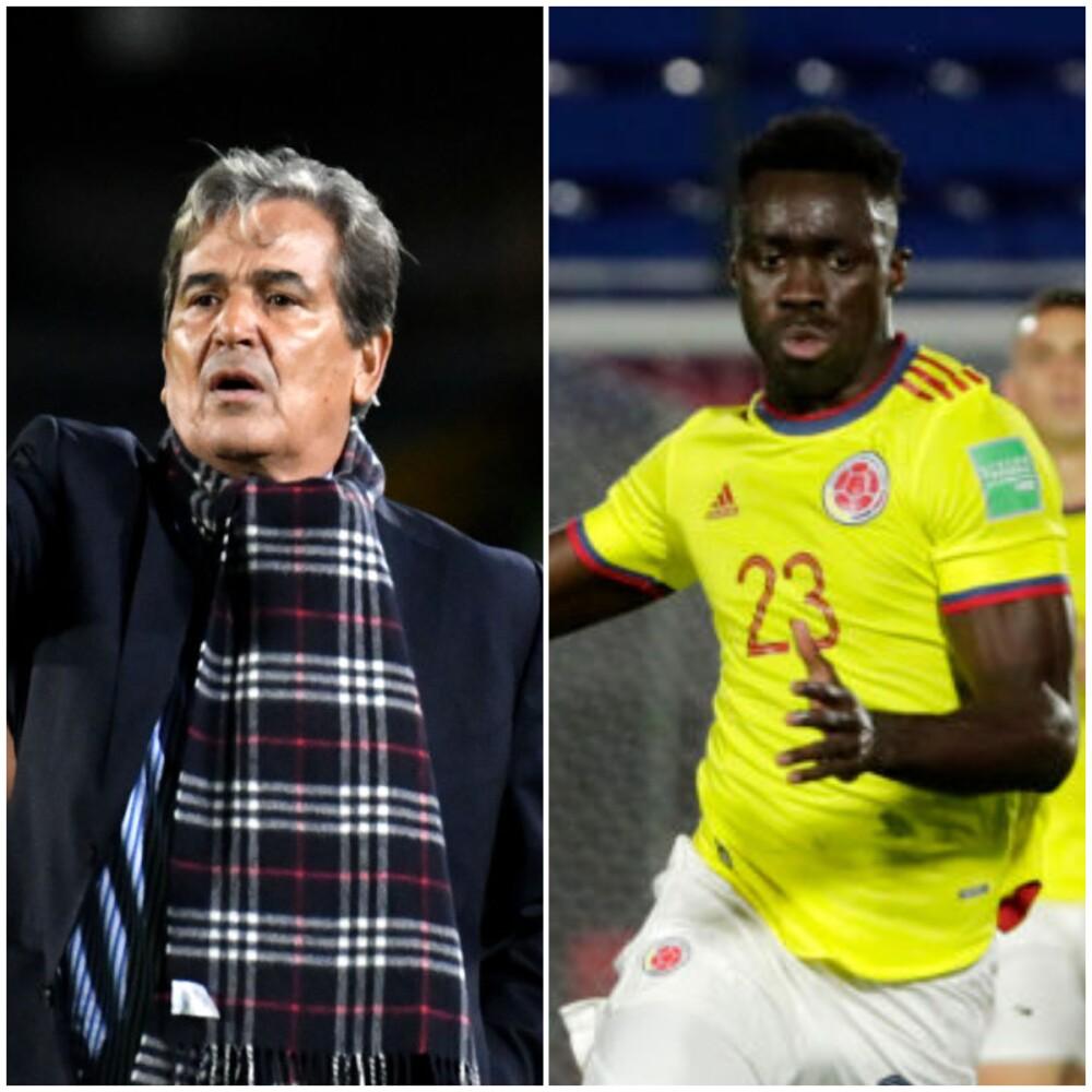 Jorge Luis Pinto, técnico colombiano y Dávinson Sánchez, jugador de Selección Colombia..jpg