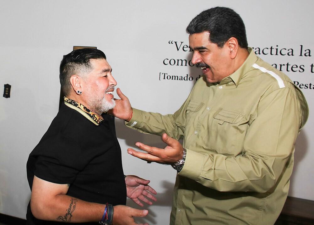 Maradona y Nicolás Maduro