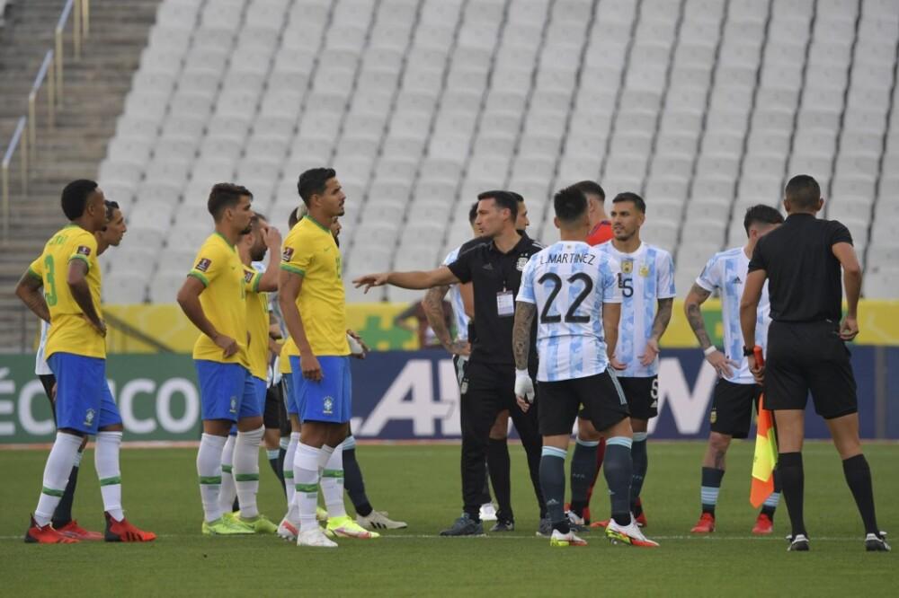así se vivió la polémica suspensión del juego entre Argentina- Brasil por Eliminatorias
