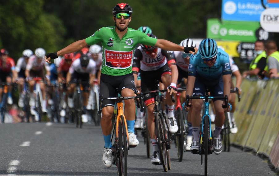 Sonny Colbrelli ganó la etapa 3 del Critérium del Dauphiné.