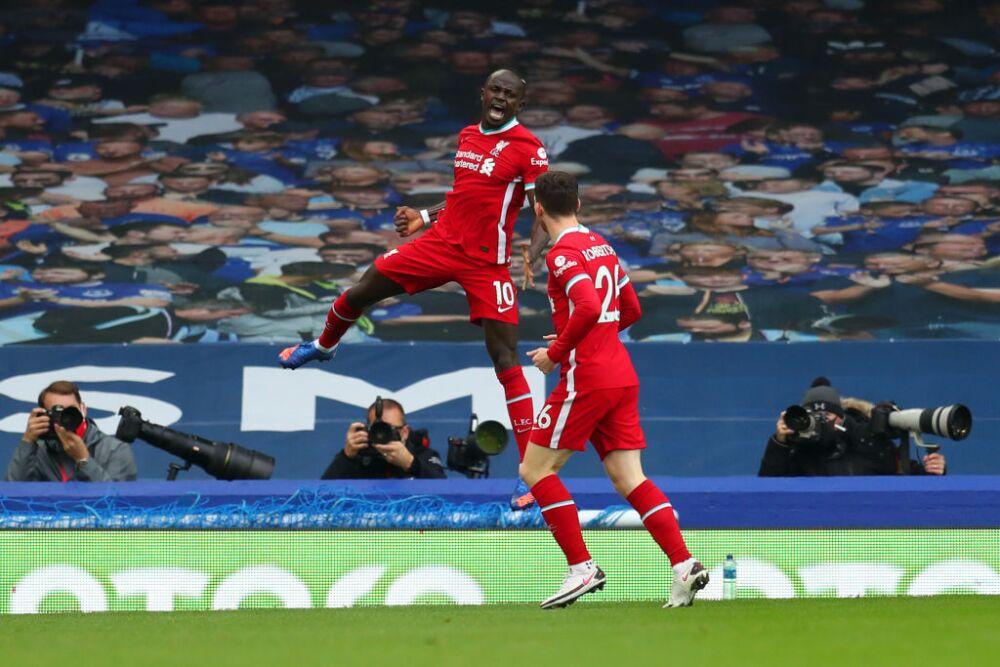 Gol Sadio Mane Everton vs Liverpool