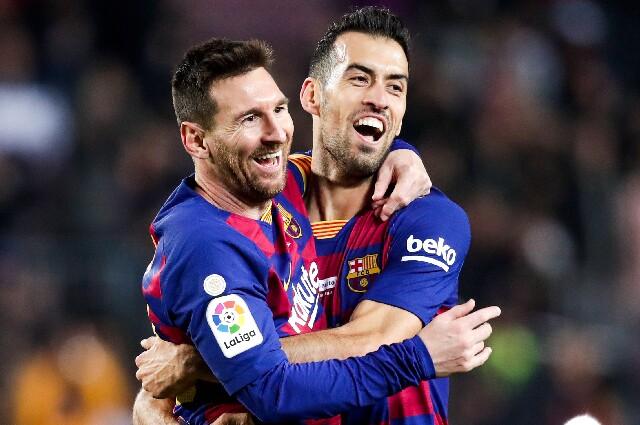 Sergio Busquets y Lionel Messi, en el Fútbol Club Barcelona
