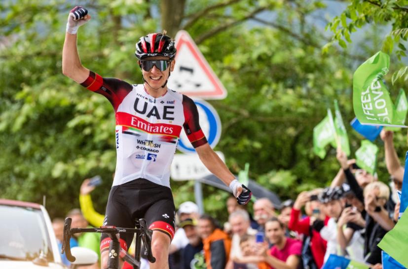 Tadej Pogacar ganó la etapa 2 de la Vuelta a Eslovenia y es nuevo líder.