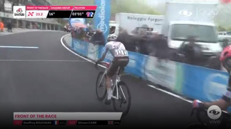 Tercer premio de montaña de la etapa 9 del Giro de Italia.