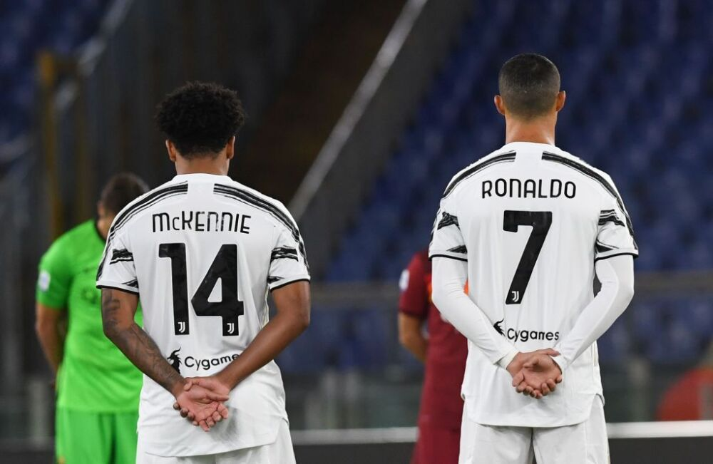Weston McKennie y Cristiano Ronaldo - Juventus