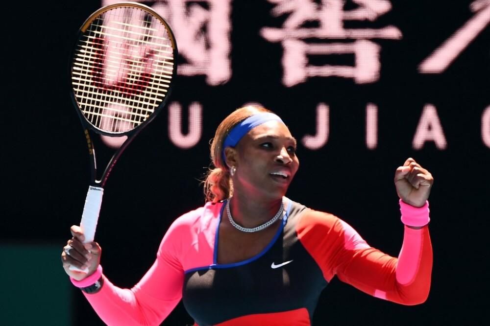 Serena Williams en el abierto de Australia. Foto AFP