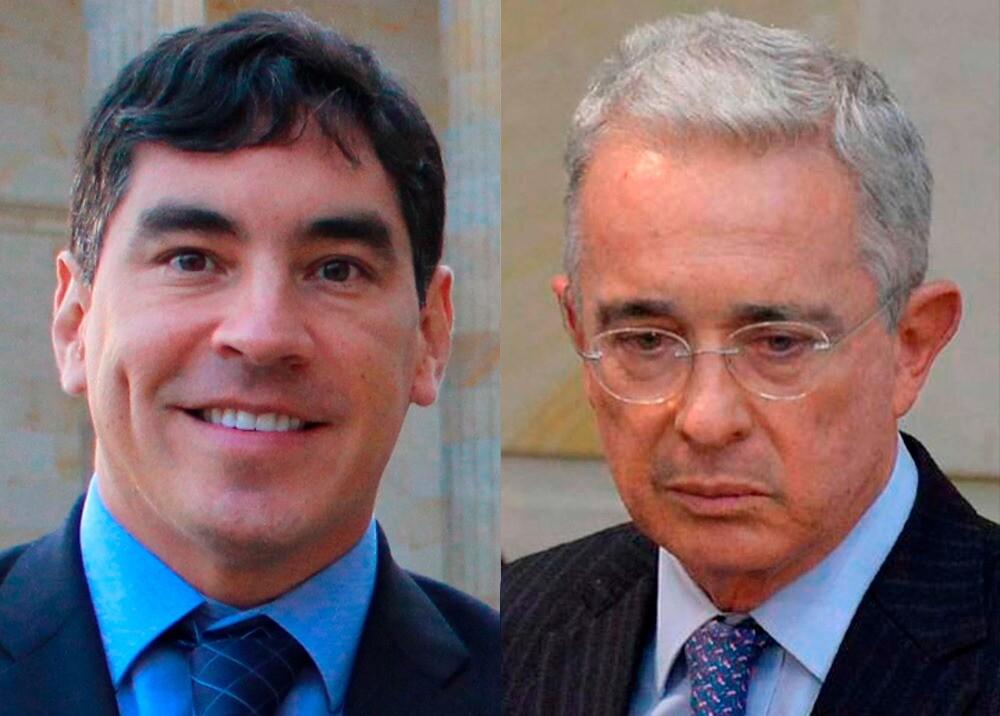 373934_Álvaro Hernán Prada y Álvaro Uribe // Fotos: Cámara de Representantes, AFP