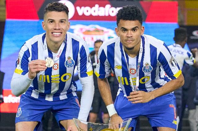 Luis Díaz y Mateus Uribe, jugadores del Porto