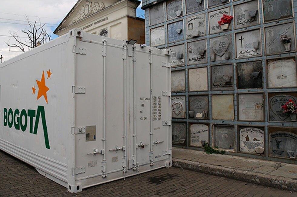 Contenedores que cuentan con hornos crematorio