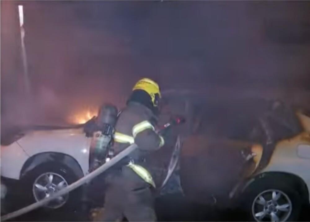 Se salvó luego de que su carro ardiera en llamas