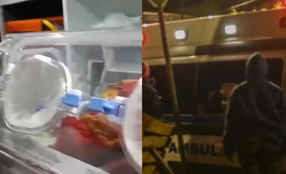 Murió bebé en ambulancia por bloqueos del paro
