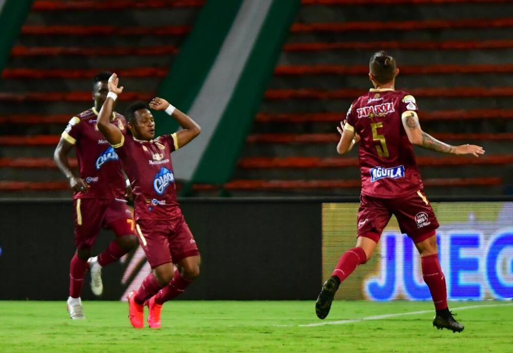 Tolima celebra vs Nacional
