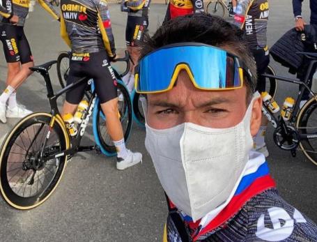 Primoz Roglic es uno de los favoritos al título del Tour de Francia.
