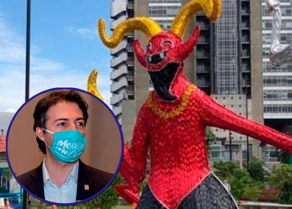 Daniel Quintero Calle habla sobre polémica por diablo de Riosucio en alumbrado : Fotos: Facebook Alcaldía de Medellín - suministrada.jpeg
