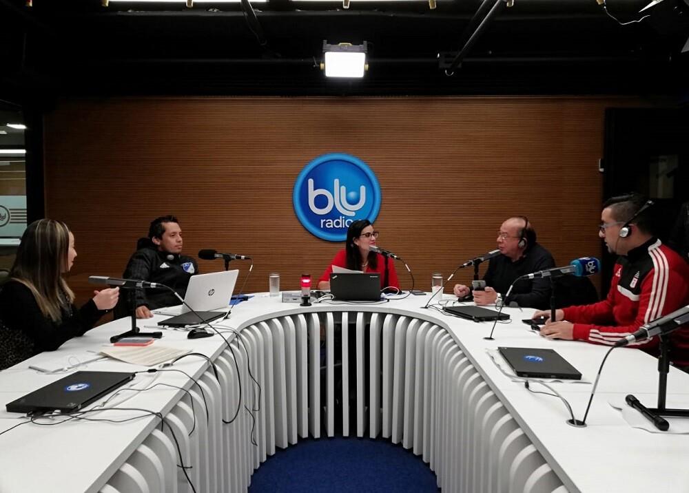 335563_BLU Radio. Jhon Alexander Solano, Joaquín Correa y Óscar Murillo // Foto: BLU Radio